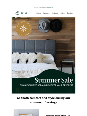Zinus - Save on Comfort with our Summer Sale 💤