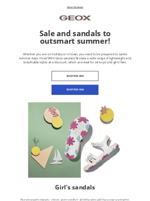 Geox - Sale & Sandals 😀 The perfect pairing!