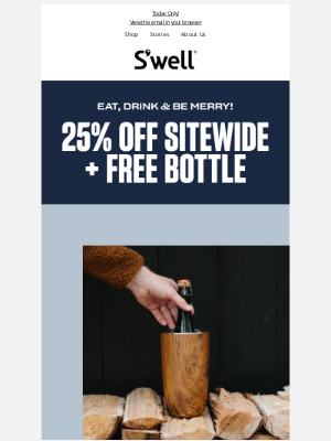 S'well Bottle - Black Friday Is Here: 25% Off + Free 9oz Bottle