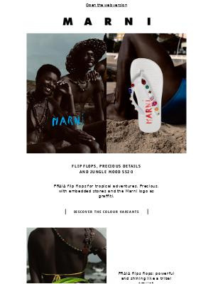 Flip flops, precious details and jungle mood SS20