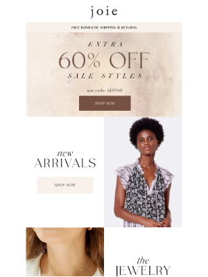 Joie - New Fall Favorites + 60% Off Sale
