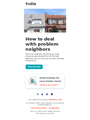 Trulia - What to do when you have problem neighbors