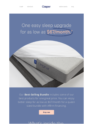 Casper - 3 of our best products, one comfy price.