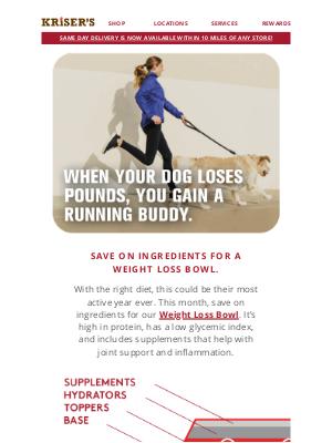 Kriser's Natural Pet - A Weight Control Diet Your Pet Will Love ❤