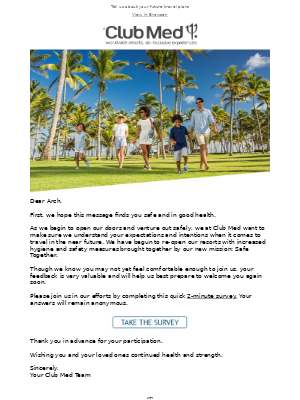 Club Med - We want your opinion, Arch 📑
