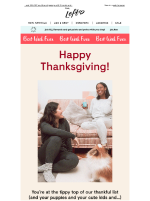 Lou & Grey - We're thankful for YOU