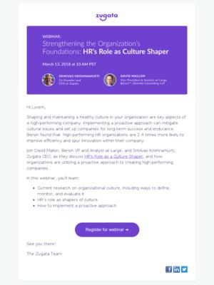 Bersin Webinar | HR's Role as Culture Shaper
