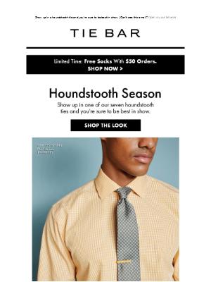 The Tie Bar - Houndstooth Season