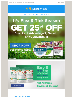 EntirelyPets - Stop The Scratch: Get 25% Off Top-Selling Flea & Tick Products!