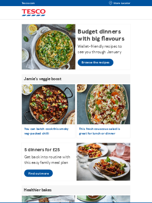 Tesco (UK) - Flavour-packed recipes for cooking on a budget