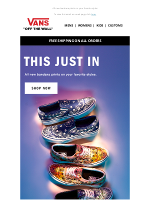 Vans - New Paisley Prints