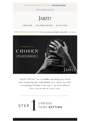 Jared - Introducing the new Chosen Platinum collection-reflect the uniqueness of your love.