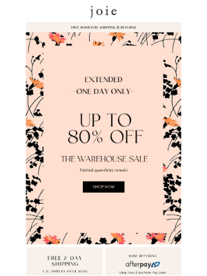 Joie - Extended! Up to 80% Off