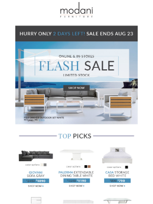 Modani Furniture - Flash Sale  Extended ⚡️ | Up to 50% Off