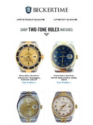 BeckerTime - Two-Tone Rolex Watches - On Sale Now!