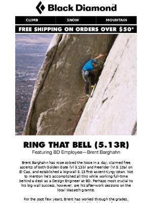 Ring That Bell (5.13R) with BD Employee Brent Barghahn