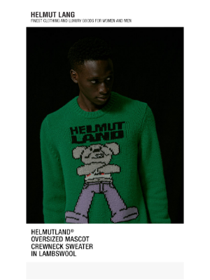HELMUT LANG - New Helmutland Arrival, The Oversized Mascot Crewneck Sweater