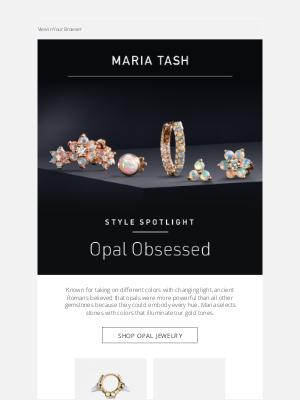 Venus by Maria Tash - October is Opal Month