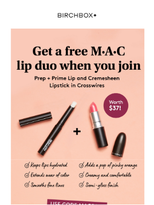 $37 of FREE M·A·C? Yes, Please