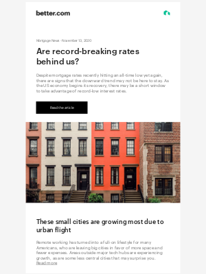 Better - Mortgage News: Are record-breaking rates behind us?