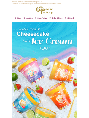 The Cheesecake Factory - Celebrate summer with The Cheesecake Factory At Home™