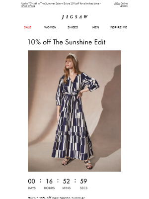 10% off The Sunshine Edit ends Midnight