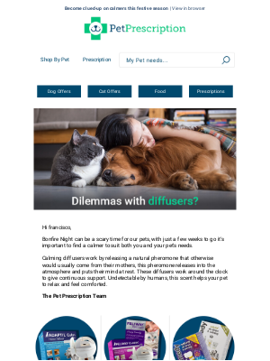 Pet Prescription (UK) - francisco calming diffusers, what's all the fuss about?