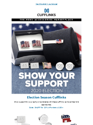 CuffLinks - Election Ready Accessories