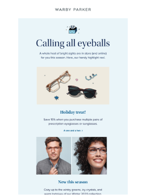 Warby Parker - Feeling festive yet?