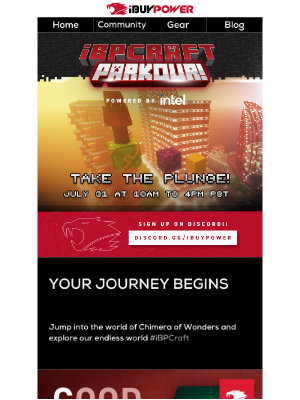iBUYPOWER - Win Swag by Playing iBPCraft Parkour!