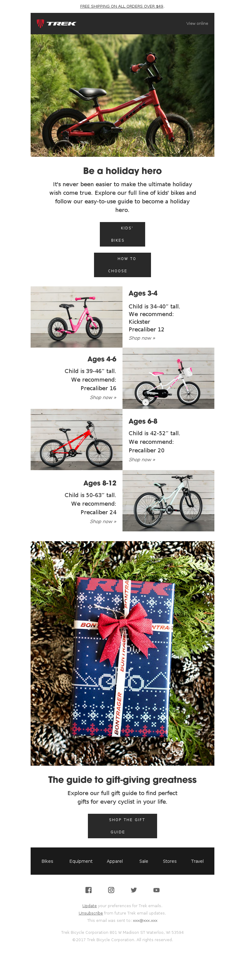 Trek Bicycle - The gift they'll never forget