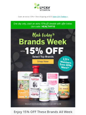 LuckyVitamin - Excited for Black Friday? Don't Wait