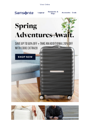 Samsonite - Spring adventures await