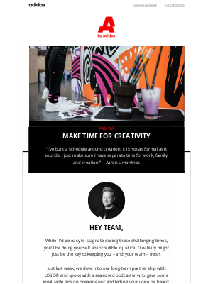 Adidas Group - It's time to get creative