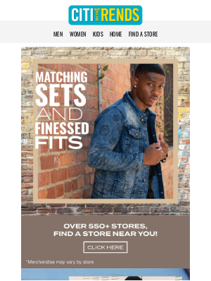 Citi Trends - MENS Matching Sets & Finessed Fits