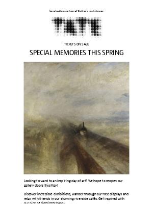 Tate (UK) - Special memories this spring
