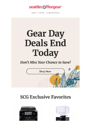 Seattle Coffee Gear - Last Chance for Gear Day Deals!🎉