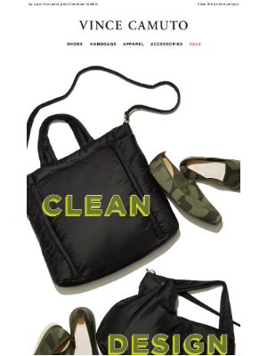 Vince Camuto - Stylish indoor-outdoor Shoes & Bags You Can Wash