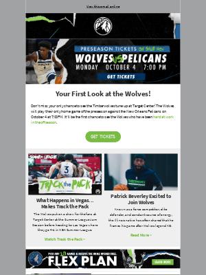 Minnesota Timberwolves - Preseason Tickets On Sale Now!