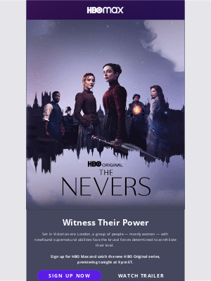 HBO Max - TONIGHT: The Nevers series premiere
