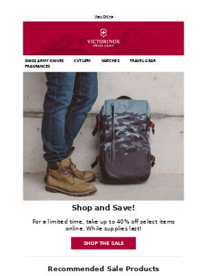 Victorinox - Shop and Save | Take up to 40% off on Select Items