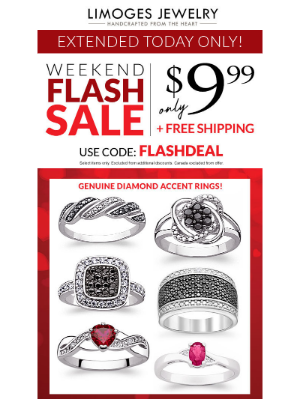 Limoges Jewelry - Extended Today Only⏳$10 Diamond Accent Rings