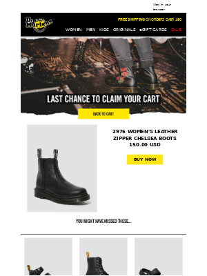 Last chance to claim your cart