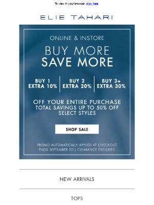 Elie Tahari - Buy More, Save More - Starts Now