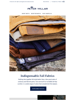 Peter Millar - Explore New Corduroy And Flannel Pants Perfect For Fall