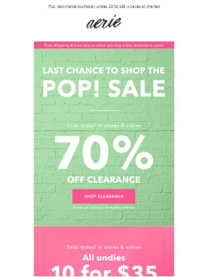 70% off 🌈🍭 Last day to shop the POP! Sale