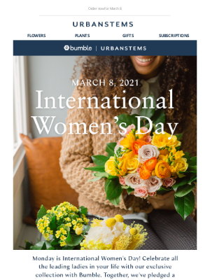 UrbanStems - Celebrate International Women's Day