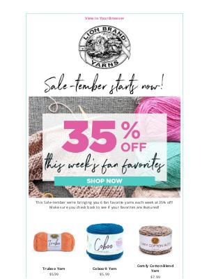 Lion Brand Yarn - It's Sale-tember!