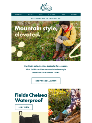 Chaco - Say hi to our best-selling Fields collection