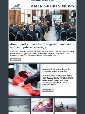 Amer Sports - Amer Sports Investor Relations Newsletter September 2018